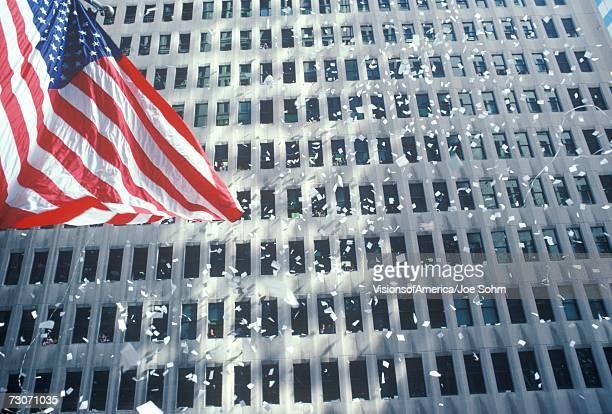 'American Flag in Ticker Tape Parade, New York City, New York'