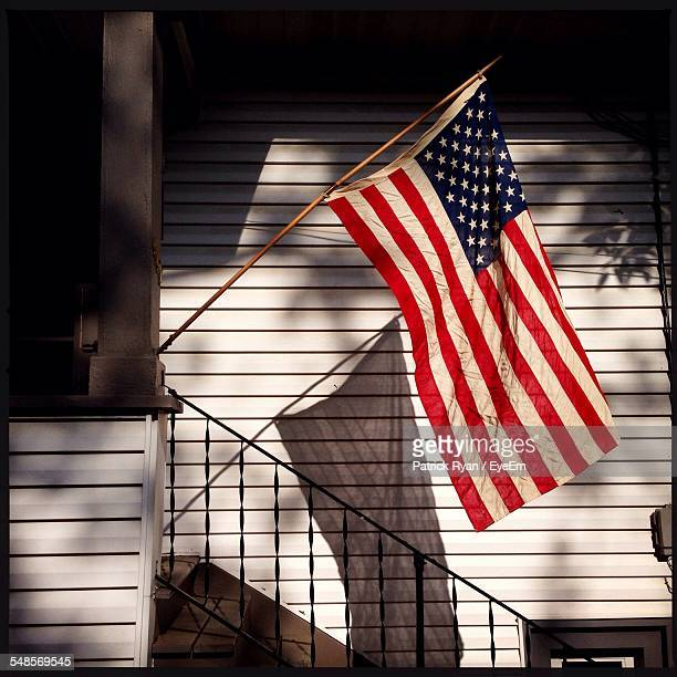 American Flag Outside House