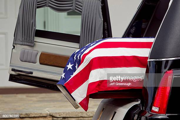 american flag over casket at military funeral - religious service stock pictures, royalty-free photos & images