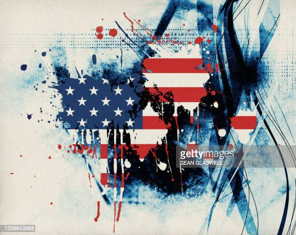 american flag paint splat - gun control stock pictures, royalty-free photos & images