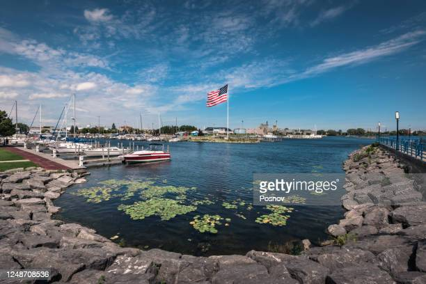 american flag - michigan stock pictures, royalty-free photos & images
