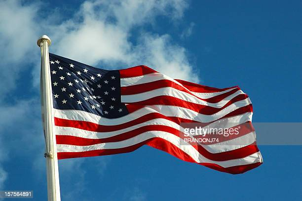 American Flag Waving Stock Pictures  Royalty