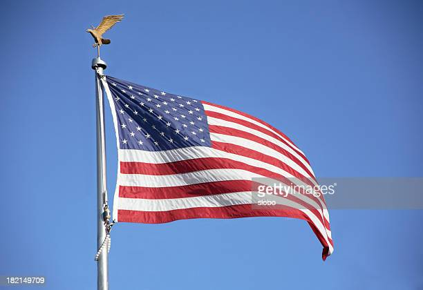 american flag - american flag eagle stock pictures, royalty-free photos & images