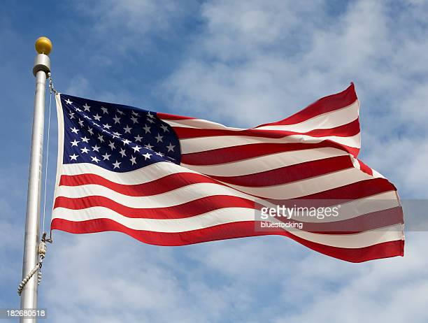 american flag - pole stock pictures, royalty-free photos & images