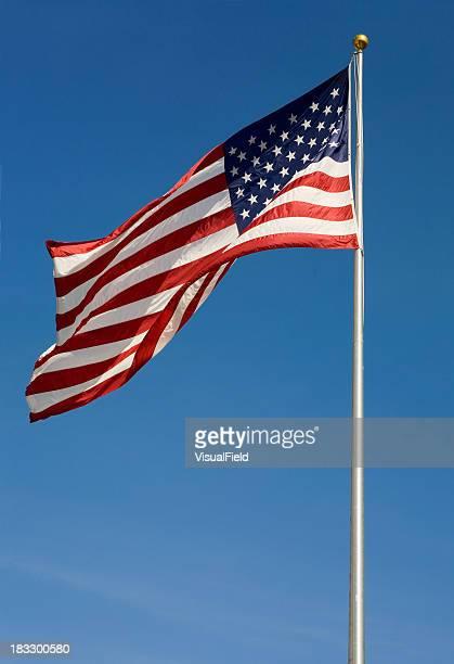 アメリカの国旗 - 旗棒 ストックフォトと画像