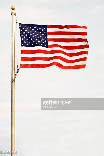 american flag - 旗棒 ストックフォトと画像