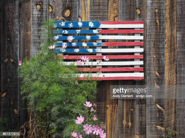 diy american flag - andy clement stock pictures, royalty-free photos & images