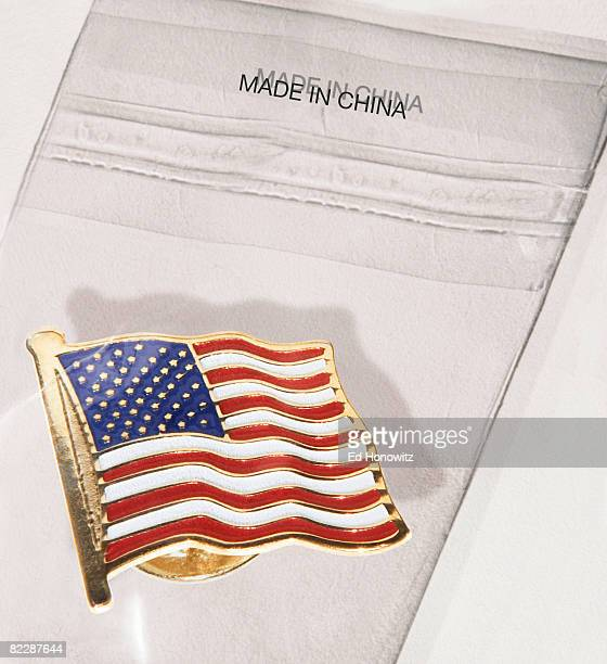 American flag pin made in China