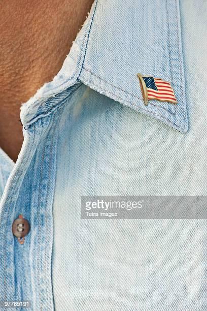 american flag pin - solapa camisa fotografías e imágenes de stock