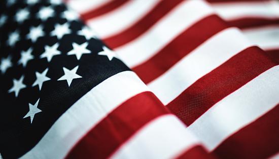 american flag textile close up 540983048