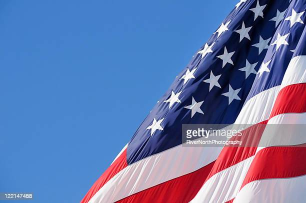 American Flag With Copy Space