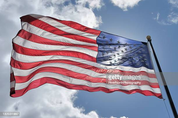 american flag with sun shining through - flag day stock pictures, royalty-free photos & images