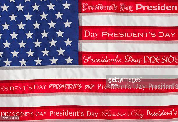 american flag with text presidents day - presidents day stock pictures, royalty-free photos & images