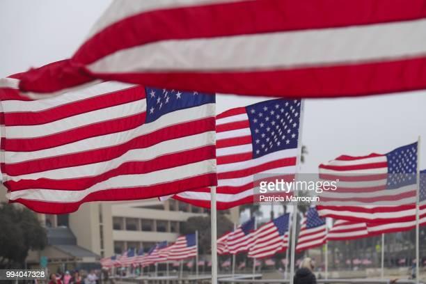 American flags along the Promenade