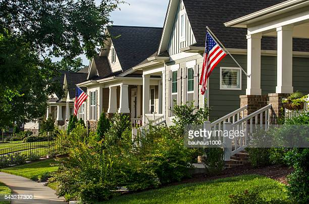 American Flags Hanging to Celebrate the American Dream