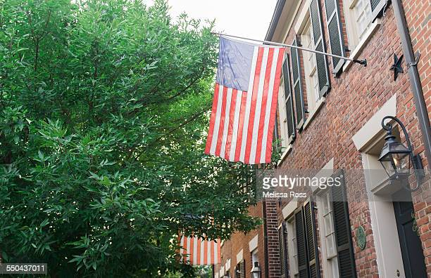 American Flags On Homes