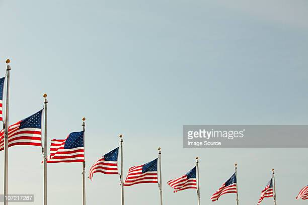 american flags - politics foto e immagini stock