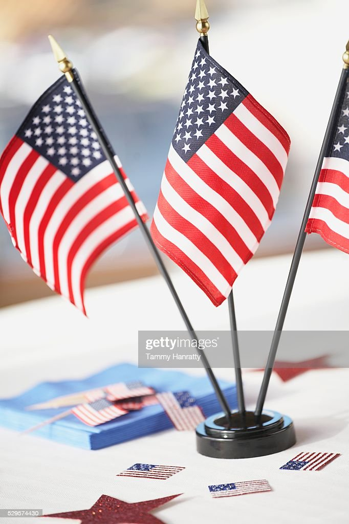 American Flags : Stock-Foto