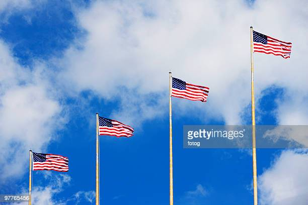 american flags - flagpole stock pictures, royalty-free photos & images