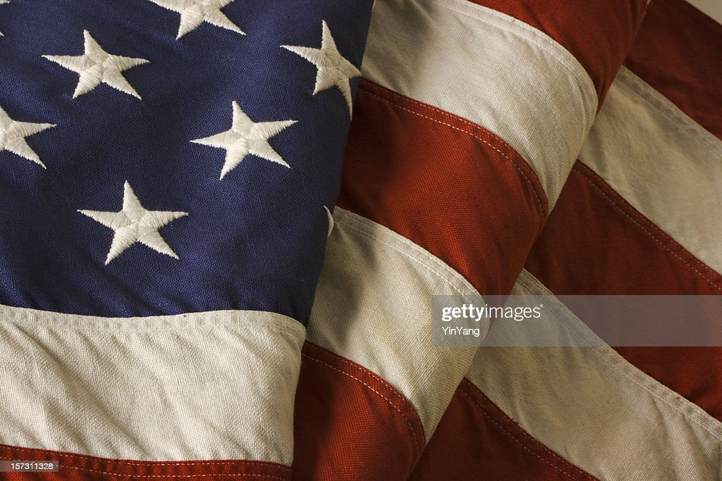 American Flag—USA Old Glory Fourth of July Stars, Stripes : Stock Photo