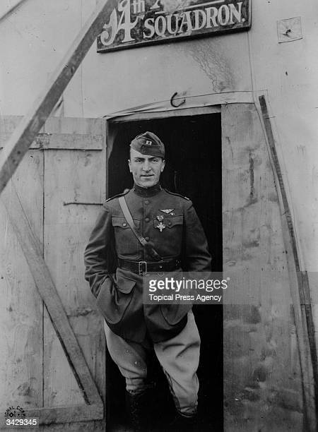 American flying ace Eddie Rickenbacker of the US Army Air Corps circa 1916 Commander of the 94th Aero Pursuit Squadron Rickenbacker was credited with...