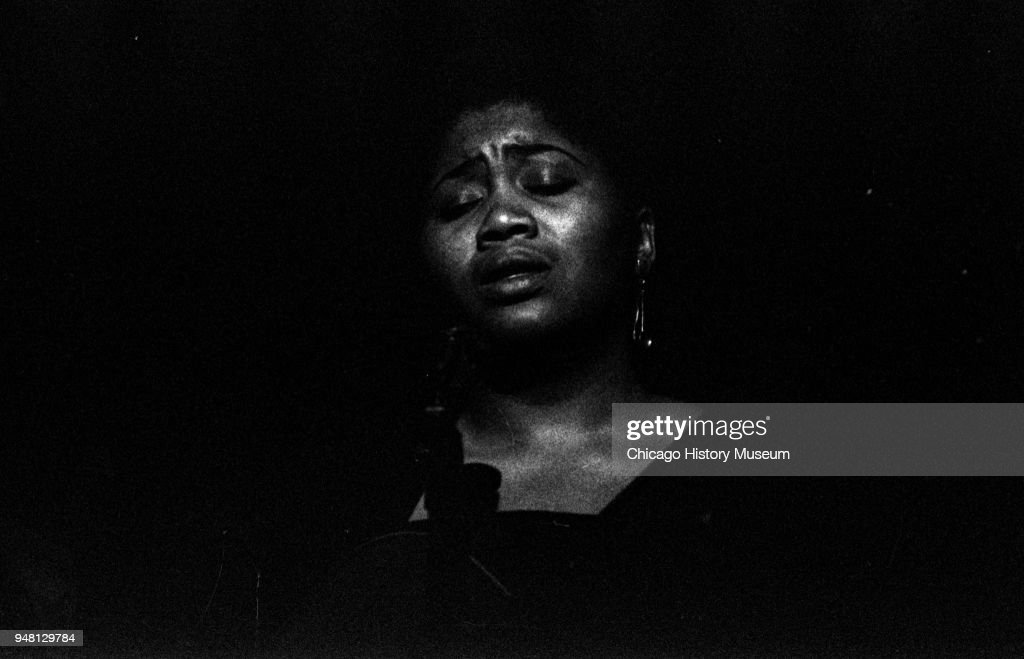 American Folk and Blues musician Odetta performs a New