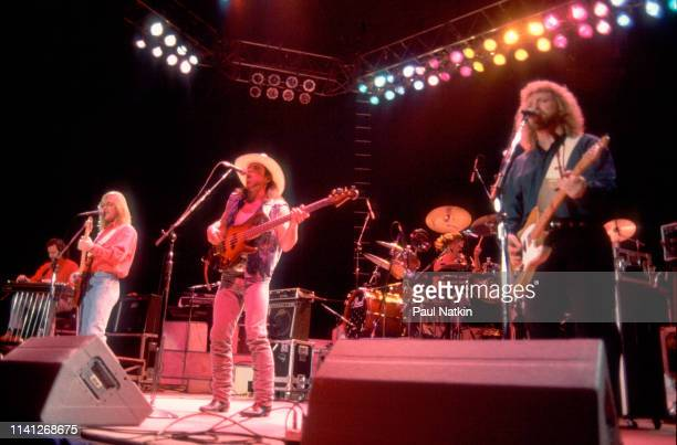 American Folk and Country group Pirates of the Mississippi perform onstage at the Rosemont Horizon Rosemont Illinois January 31 1991 Pictured are...