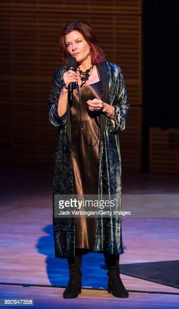 American Folk and Country musician Roseanne Cash introduces the American Byways series she curated at Carnegie Hall's Zankel Hall New York New York...