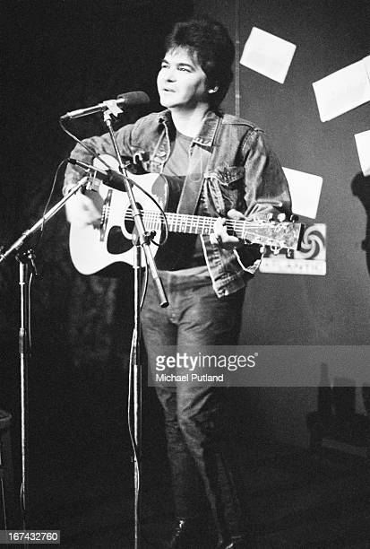American folk and country singersongwriter John Prine performing in London 16th January 1973