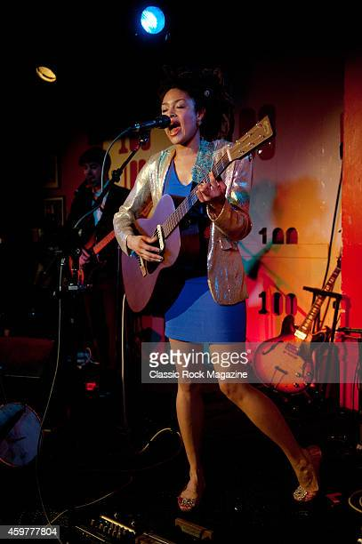 American folk blues musician Valerie June performing live on stage at the 100 Club in London on March 5 2013