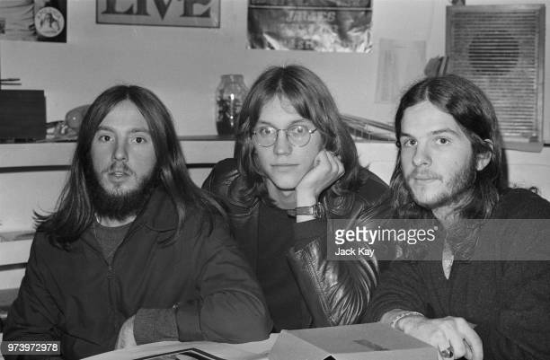 American folk rock band America posed together in London on 3rd February 1972 The band members are from left Dewey Bunnell Gerry Beckley and Dan Peek