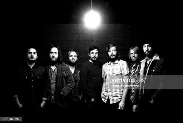 American folk rock band Midlake group portrait at the Junction in Cambridge United Kingdom in 2010 LR McKenzie Smith Tim Smith Eric Nichelson Paul...