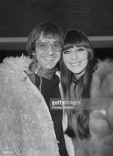 American folk rock duo Sonny and Cher at London Airport