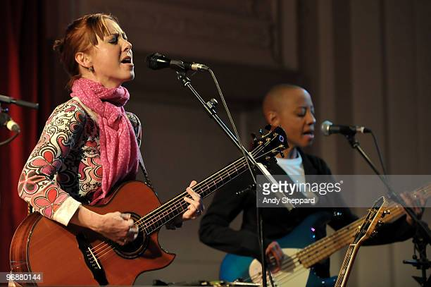 American folk rock singersongwriter and guitarist Jonatha Brooke performs on stage at Bush Hall on February 19 2010 in London England