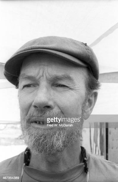 American folk singer and activist Pete Seeger attends a demonstration against the construction of the Seabrook Station Nuclear Power Plant Seabrook...