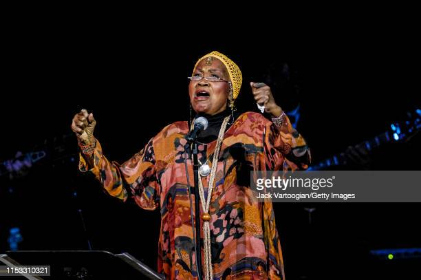 American Folk singer and Civil Rights activist Odetta performs during the JVC Jazz Festival's 'Sing the Truth A Tribute to Nina Simone' concert at...