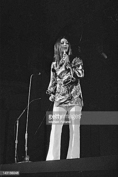 American folk singer Julie Felix performing on the BBC's 'Young Generation' TV show UK 1970