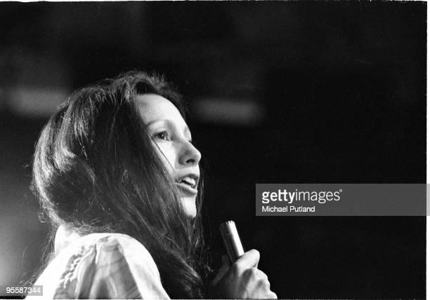 American folk singer Julie Felix performs on BBC TV London 1970
