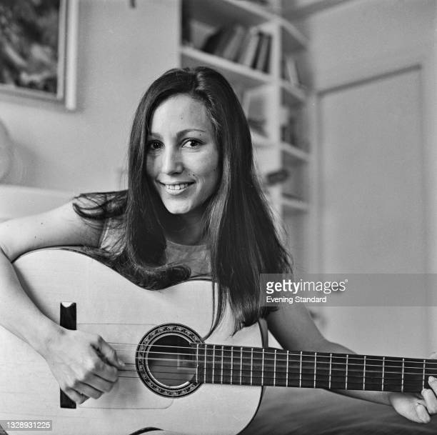 American folk singer Julie Felix , UK, 13th August 1965.
