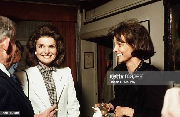 American fomer First Lady and editor Jacqueline Kennedy Onassis and socialite and biographer Nina Auchincloss Straight attend an unspecified event...