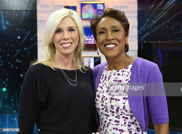 AMERICA American Footbal Official Sarah Thomas is a guest on Good Morning America 4/9/15 airing on the Walt Disney Television via Getty Images...