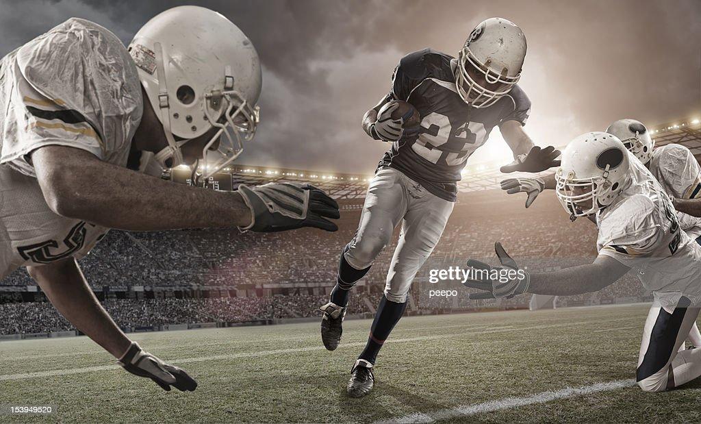 Acción de fútbol americano : Foto de stock