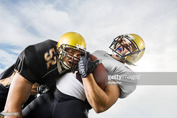 American football action.