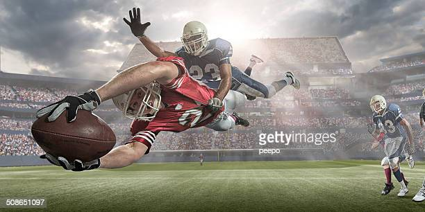 american football action - scoring stock pictures, royalty-free photos & images