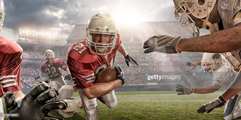 American Football Action : Stock Photo