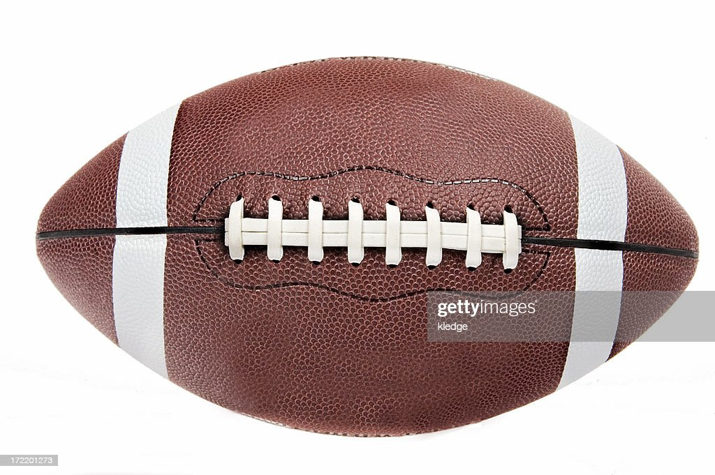 American Football Ball Background: American Football Ball On White Background High-Res Stock
