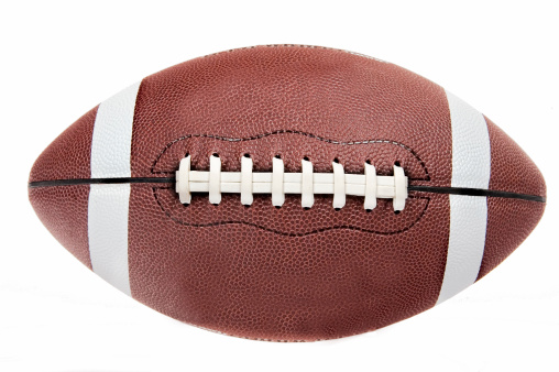 American football ball on white background 172201273