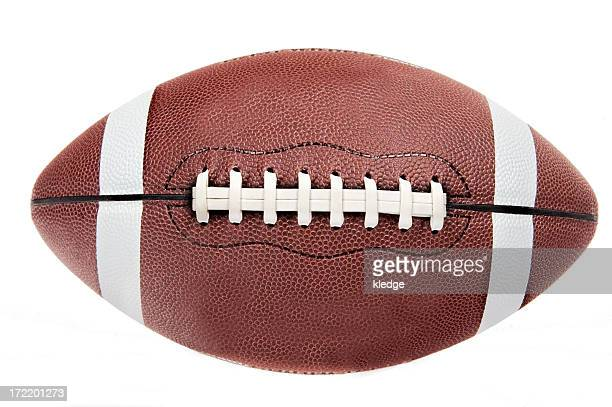 american football ball on white background - football stock pictures, royalty-free photos & images