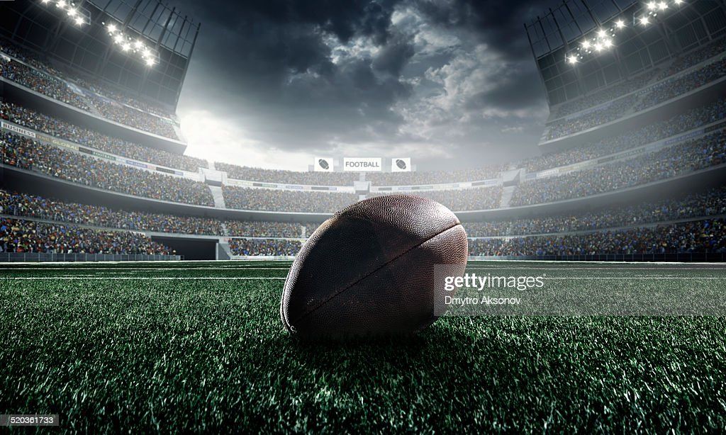 American football ball : Stockfoto