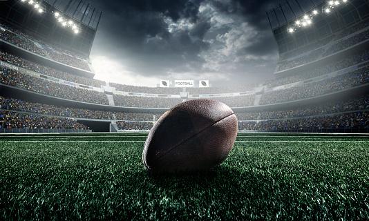 American football ball 520361733